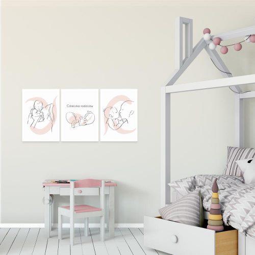plakat tryptyk dla noworodka