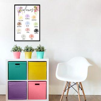 Plakat do pokoju dziewczynki z kwiatami - Colours