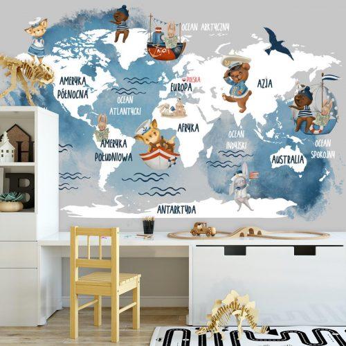 Tapeta dla dziecka z niebieskimi oceanami