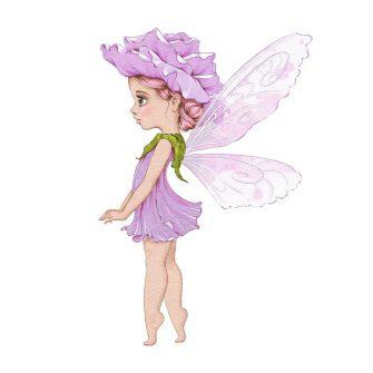 Dziecięcy plakat z dziewczynką ubraną w leśny kwiatuszek
