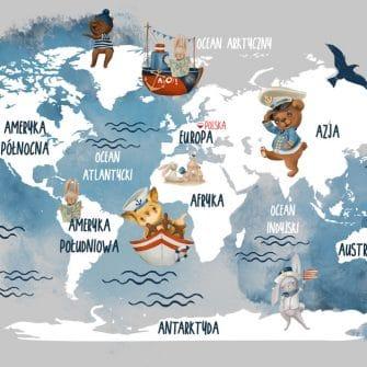 Tapeta misie i łódki na mapie