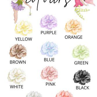 Plakat dla rodzeństwa z kwiatami - Colours