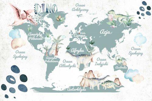 Dziecinna tapeta z mapa świata