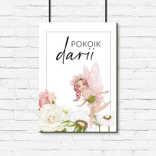 Plakat do pokoju Darii z bajecznym motywem
