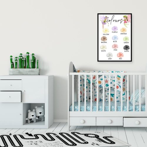 Plakat dla dziewczynki z kwiatami - Colours