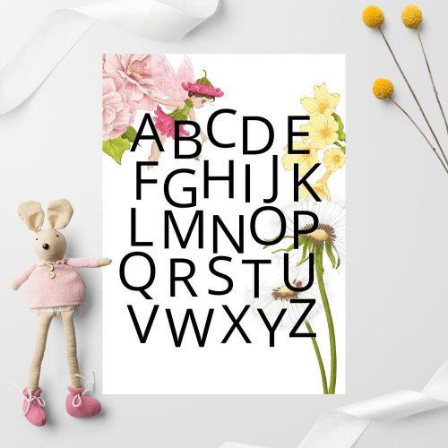 Plakat edukacyjny dla przedszkolaka - Wróżka