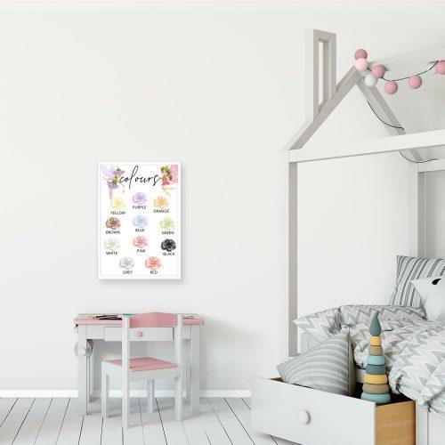 Plakat nad łóżeczko z kwiatami - Colours