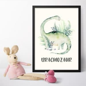 Plakaty z dinozaurami