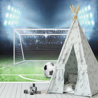 Fototapeta dziecięca - Piłka nożna dla rodzeństwa
