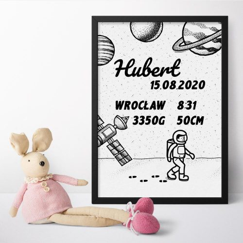 Indywidualny plakat z metryczką dziecka