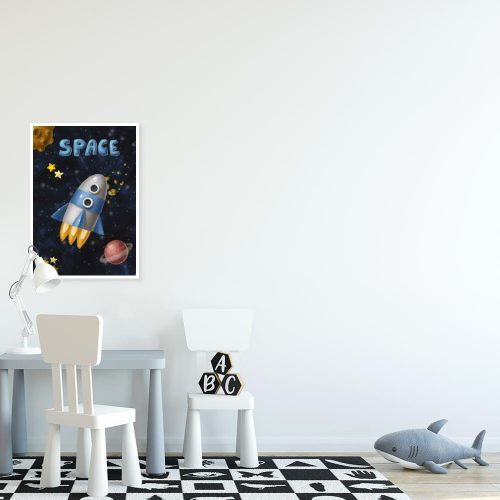 Plakat z kosmosem dla dziecka