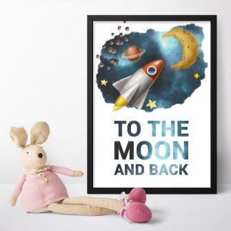Plakaty dla dzieci z maksymą bez ramy