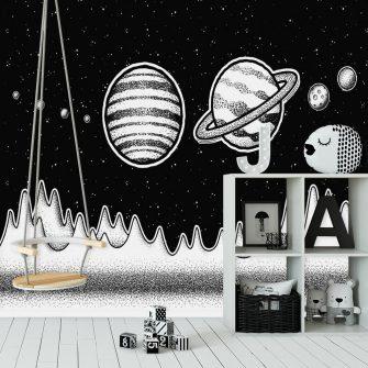 Foto-tapeta z Saturnem