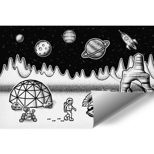 Tapeta z kosmiczną stacją