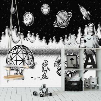 Tapeta ze stacją badawczą w kosmosie