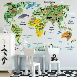 Mapa świata do przedszkola