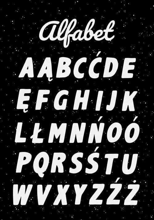 Edukacyjny plakat do nauki języka polskiego