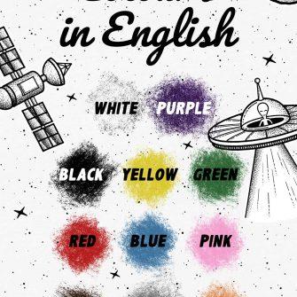 Plakat edukacyjny do nauki języka angielskiego