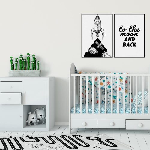 Plakat: to the moon and back