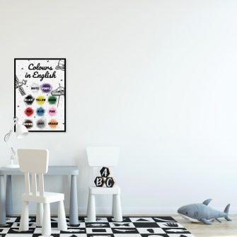 Plakat z nazwami kolorów